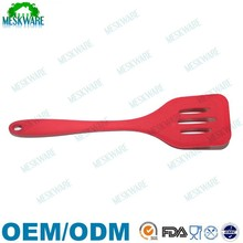 BPA free colorful flexible silicone slotted turner