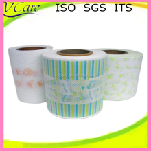 breathable printing clothlike film raw material for baby diaper
