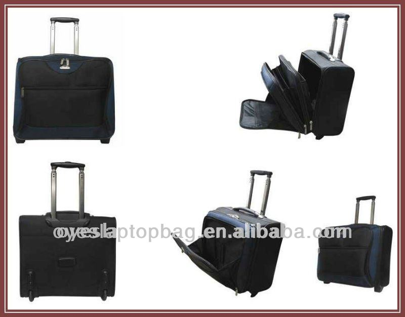 1680D nylon business 16 inch cheap trolley bag with trolley laptop bag compartment