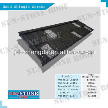 ISO, SONCAP,CE, SGS certified stone coated metal roof tile Shingle 1360mm*420mm