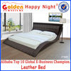 Alibaba hot sale leather bed design furniture pakistan with good quality 2780