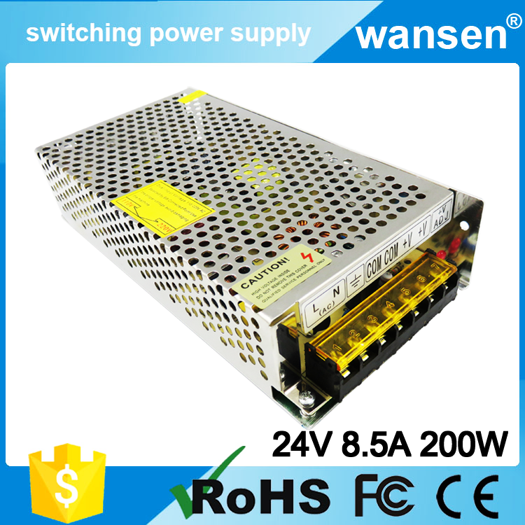 S-201-24 smps CE approved High Reliability 240v ac 24v dc transformer 201w switching power supply