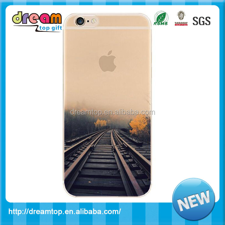 Custom design fancy pinted TPU mobile phone cover for iphone