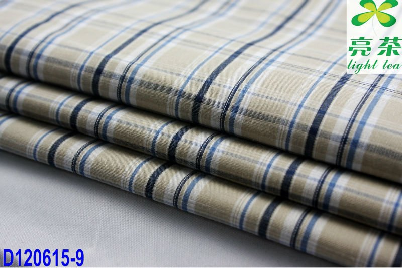 cotton with polyester poplin yarn dyed fabric