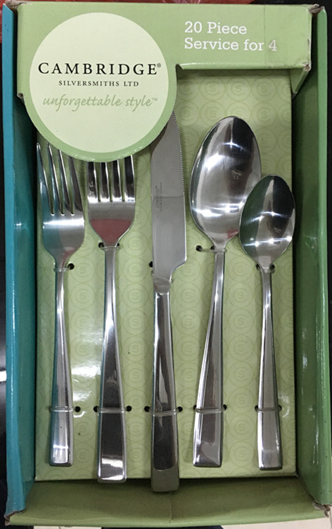 Supply to America market of Cambridge stainless steel flatware set