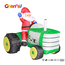 Outdoor decoration christmas inflatable santa claus on truck