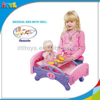 A386458 Doctor Set Toy Doll Medical Bed Toy