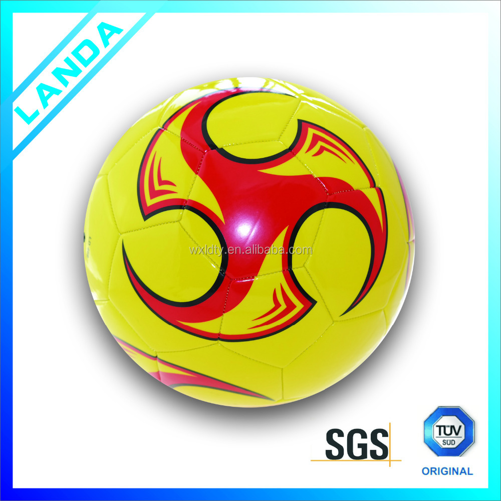 custom print PVC machine sititched soccer ball or football