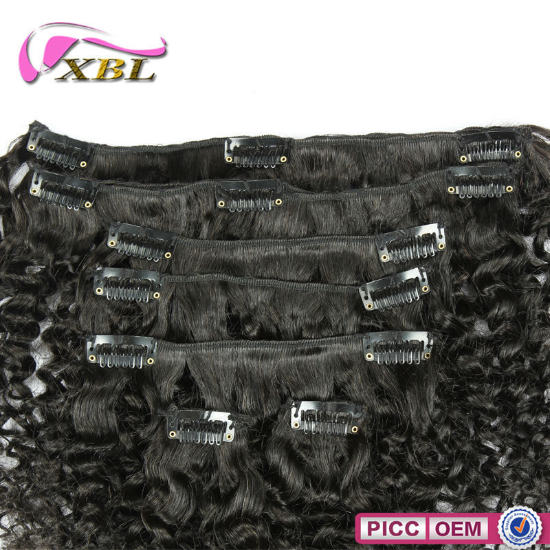 Wholesale Price Peruvian Remy Machine Weft Clip In Hair Extension
