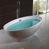 New white acrylic bathtub popular design With bath tub feet DM905 1700mm