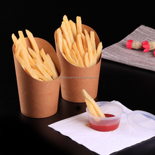 kraft paper Customized Logo French fries containers