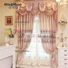 Classic butterfly flowers polyester embroidery curtain fabric for living room