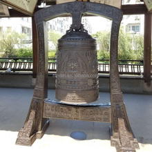 Large size Antique Buddhist Bronze Temple Bell
