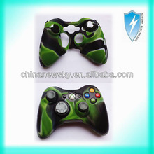 New camouflage Silicone Skin Case Cover for Xbox360 Controller wired/wireless
