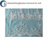 Supplier 100% cotton polish french net lace fabric , embroidery lace fabric , lace fabric wholesale