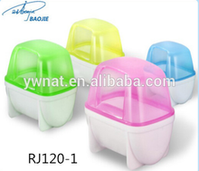 Cute colorful hamster products hamster bath room plastic hamster bath room