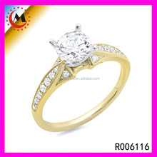 2015 FASHION COSTUME JEWELRY, GOLD PLATED WEDDING RING, EABY CHINA GOLD PLATED COSTUME JEWELRY