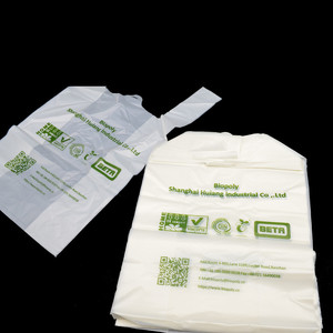 custom printed biodegradable cake plastic carry bags