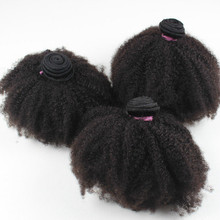 Unprocessed Big Stock Factory Price Virgin Remy 100% 4c Afro Kink Culry Brazilian Human Hair Weave