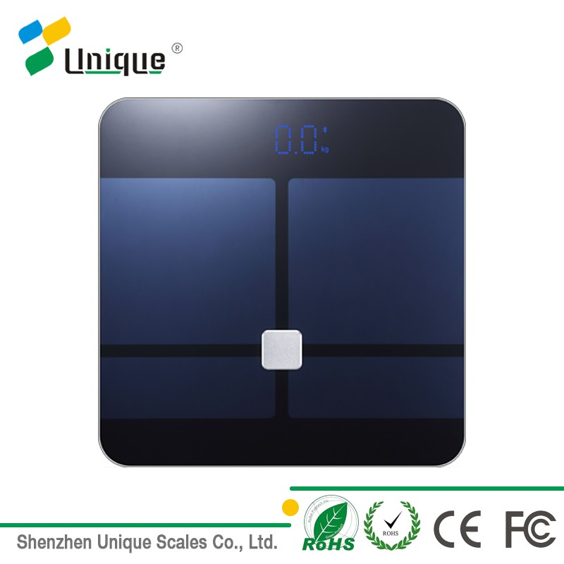 bluetooth digital weight loss smart body fat led display scales with free app