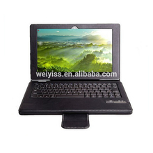 Removable Magnet Bluetooth Keyboard PU Leather Case for Tablet 10.1 inch, leather case for tablet manufacturers