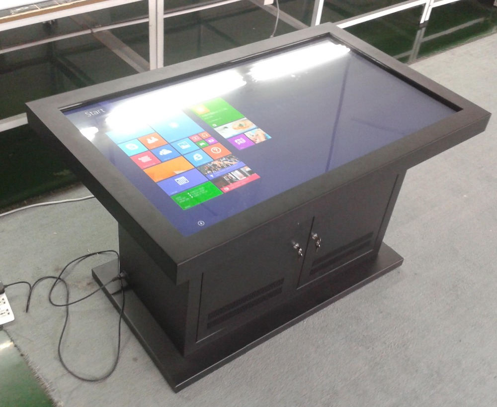 65 inch table multitouch pop display with lcd video player integrated touch all-in-one screen pc smart touch table
