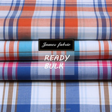 James pure cotton colorful big check regular soft 15/16 new developed fabric