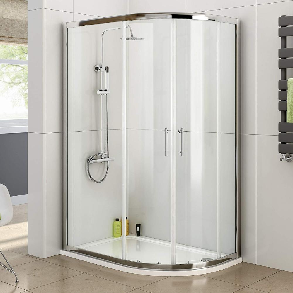<strong>1000</strong> <strong>x</strong> 800 Right Quadrant 6mm Sliding Glass Shower Enclosure with Tray +Deodorant drainage