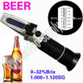 0-32 BRIX BEER REFRACTOMETER WINE SPECIFIC GRAVITY WORT