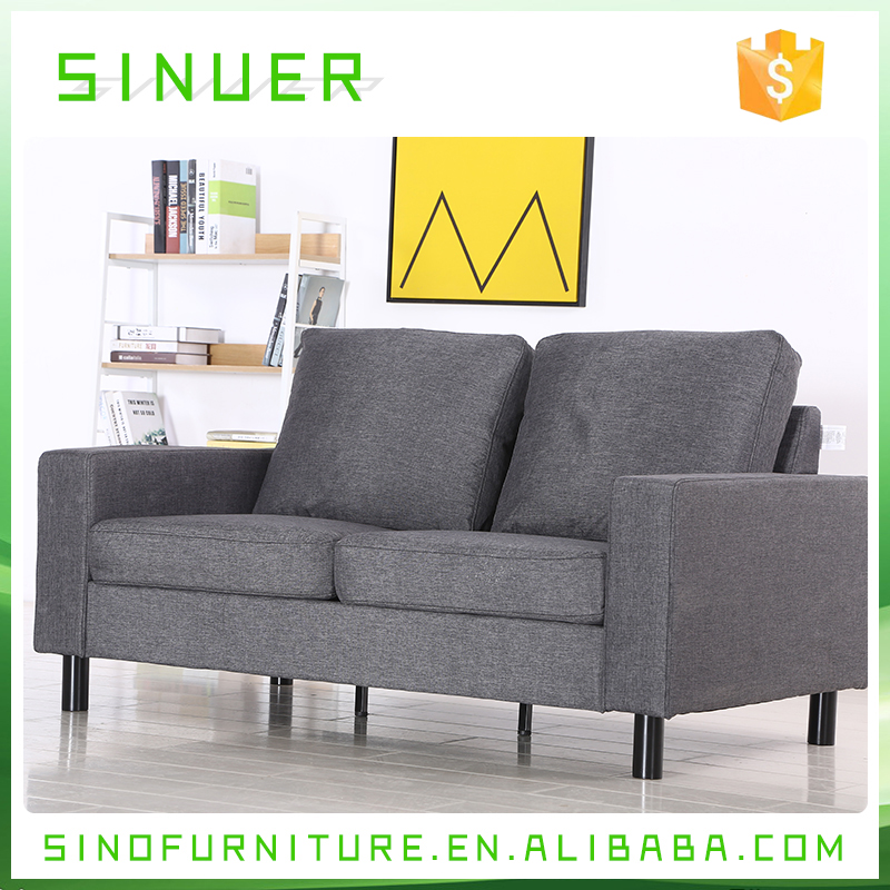 China OEM Morden design wooden frame fabric double seats sofa manufacturer