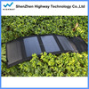 Modern crazy selling 14W folding solar charger,foldable folding solar panel charger external USB output