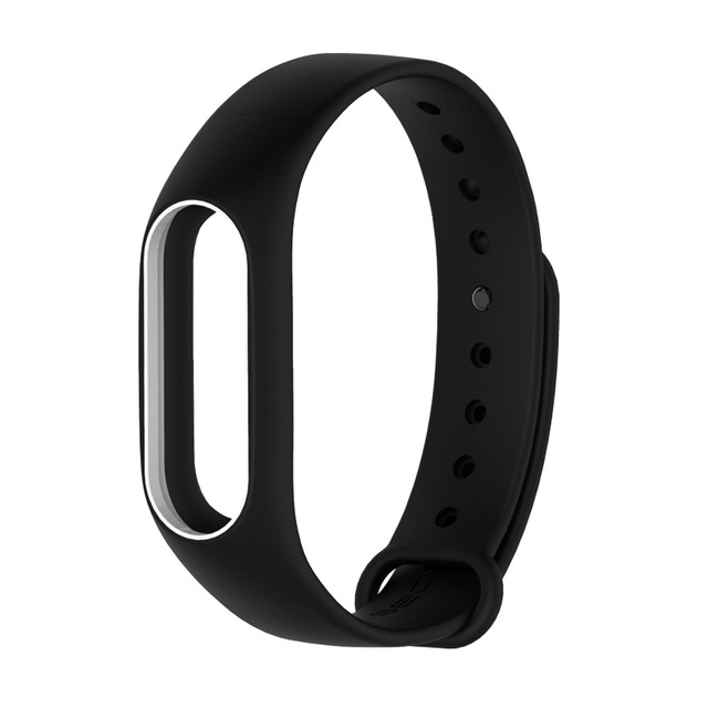 Colorful Silicone Wrist Strap Bracelet  Double Color Replacement watchband for Original Miband 2 Xiaomi Mi band 2 Wristbands