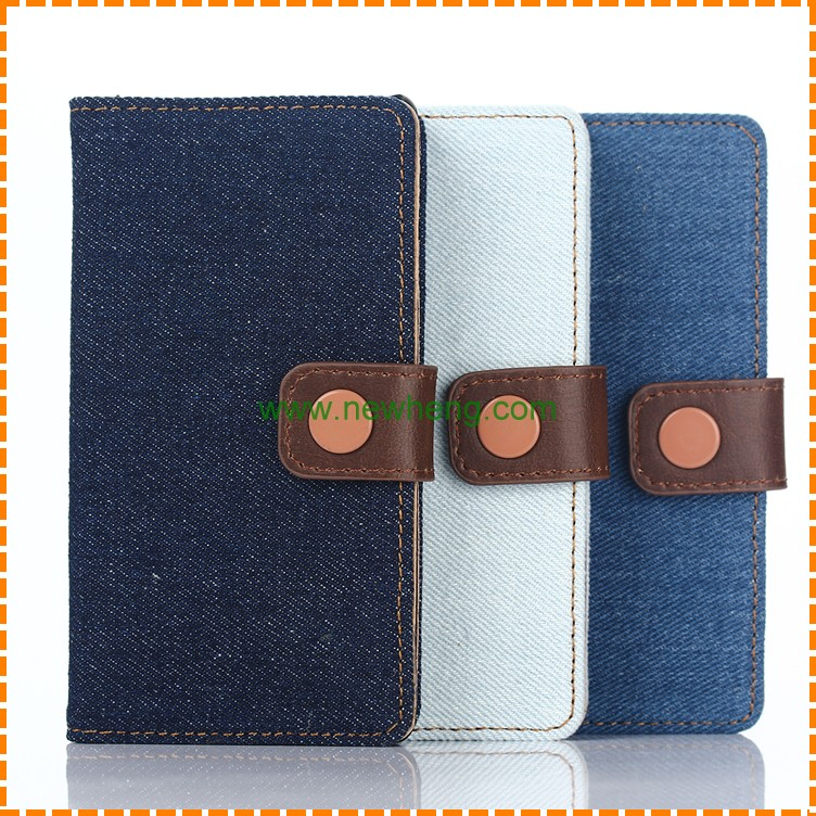 New Hybrid Jeans Wallet Leather Case for Sony Z5 Mini /Compact