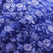 Double sided blue floral patterns printed flannel fabric for blanket,pajamas,home textile