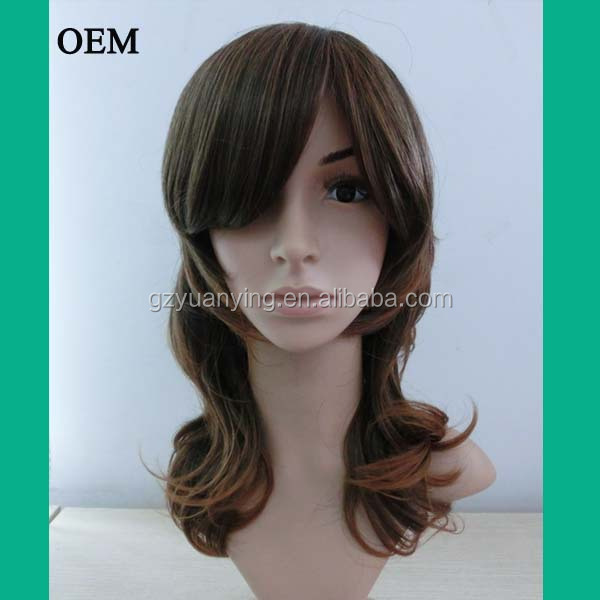 Fashion daily women hair wig synthetic light brown wig
