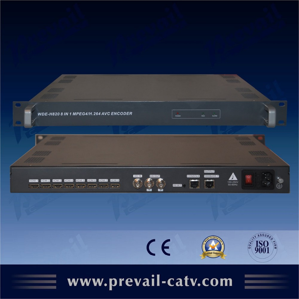 8 Channels HDMI h 264 video encoder hardware With TS over IP (WDE-H820) AA