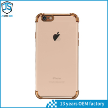 Hot New Products Pretty Slim Air-cushion Electroplating Shockproof TPU Cell Phone Case for iPhone 5S /6G