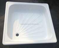 varied size of square shower tray enamel steel shower tray