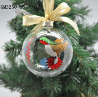 2015 factory supplier wholesale clear christmas ornaments glass ball