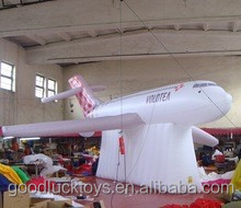 giant inflatable customized airplane shape for promotion/events