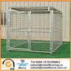 6'X8'X6' single run outside galvanized steel dog kennels with roof shelter