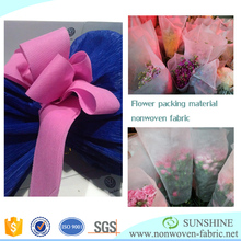 Flower wrapping material nonwoven fabric, 2cm small width color non woven for packing