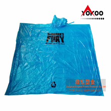 Recyclable Blue PE Disposable Rain Poncho for Niagara Falls Tourists