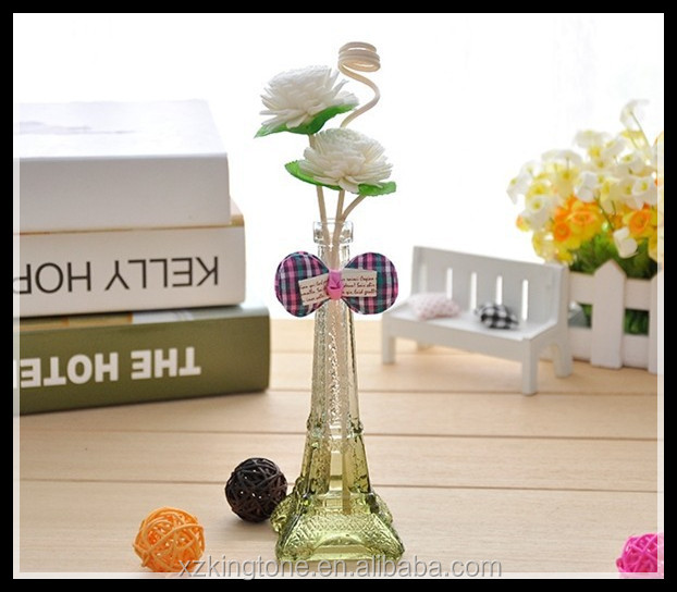 eiffel tower form transparent glass bottle for vodka with corks 40ml