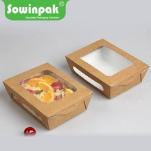 New style cardboard paper window brown kraft boxes packaging