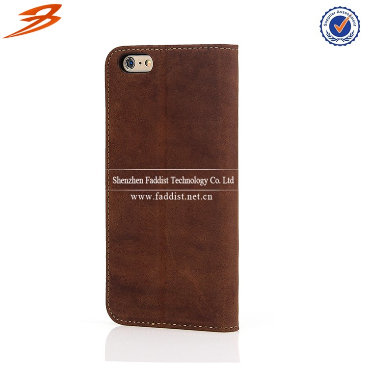 For iphone 6s plus case,for iphone 6s plus genuine leather case,for iphone 6s plus stand case with card slot