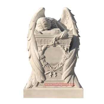 Custom Design Cemetery Products Marble Crying Angel Statue
