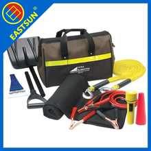 roadside emergency kit with jumper cables