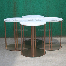side table marble top coffee table metal frame