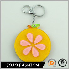 Wholesale keychain mirror keychain lemon shaped detachable keyring